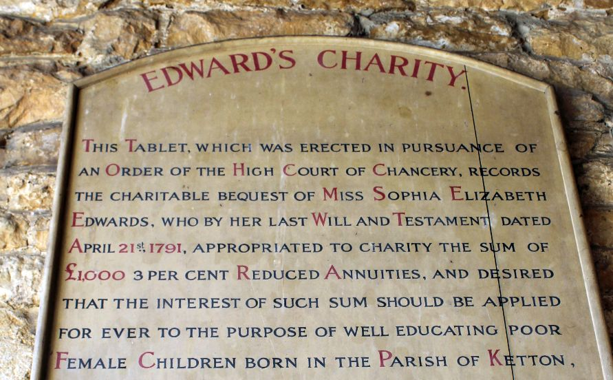 ketton edwards charity plaque